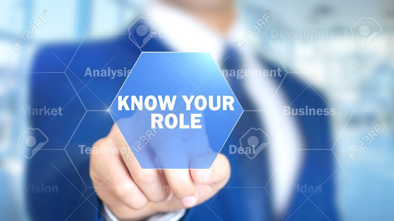 Know Your Role, Man Working on Holographic Interface, Visual Screen - 87854761