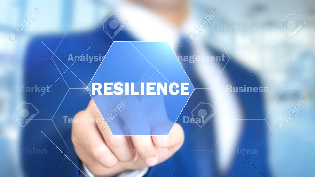 resilience, Man Working on Holographic Interface, Visual Screen - 88053257