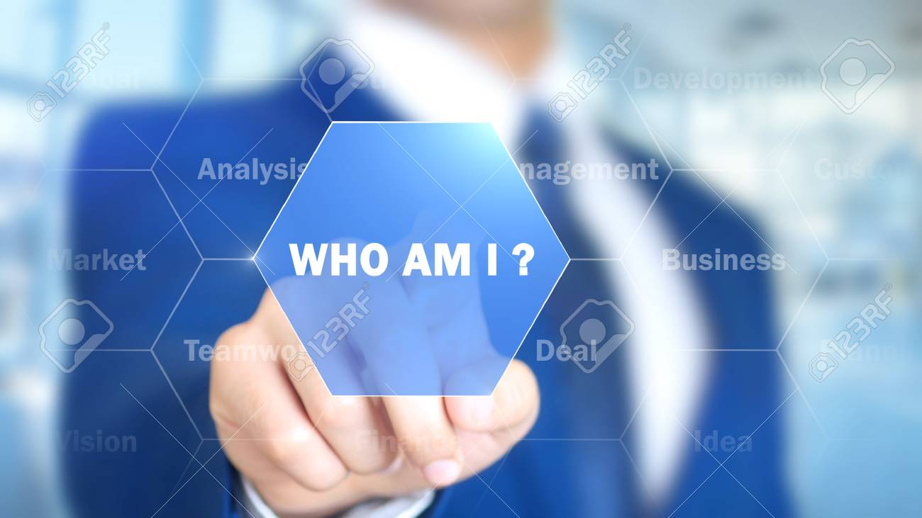 Who am I ?, Man Working on Holographic Interface, Visual Screen - 88053268