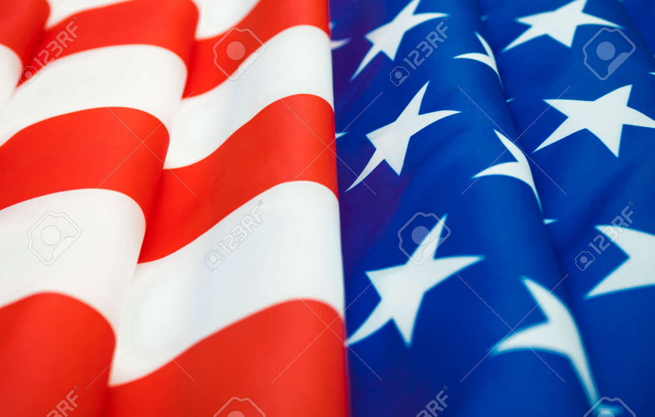 Close up of American flag. - 170462135