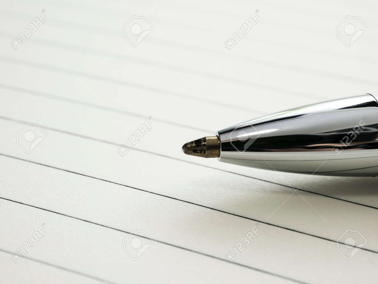 Close up of pen on notebook. - 170462140
