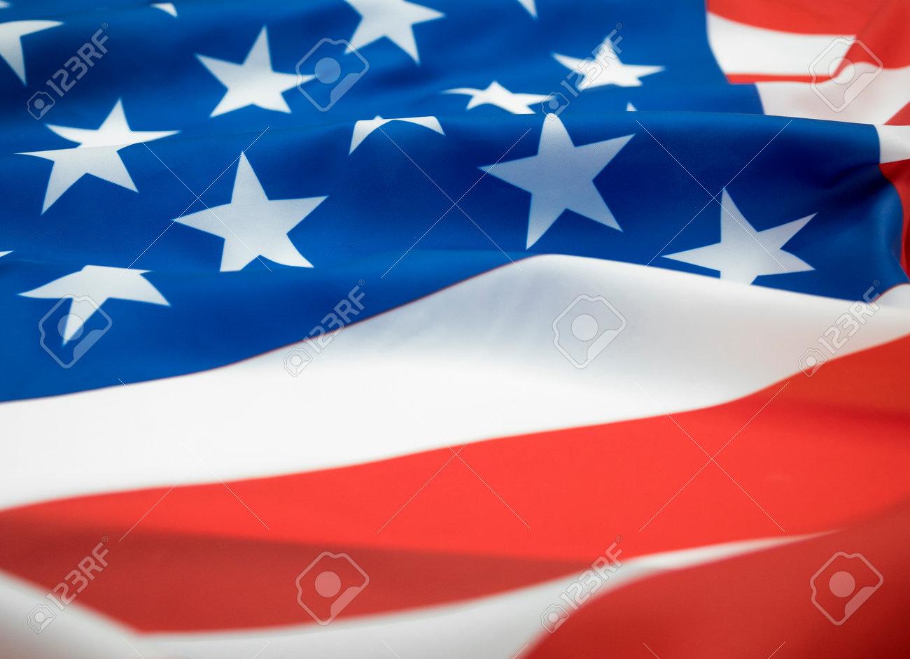 Close up waving of American flag. - 170462145