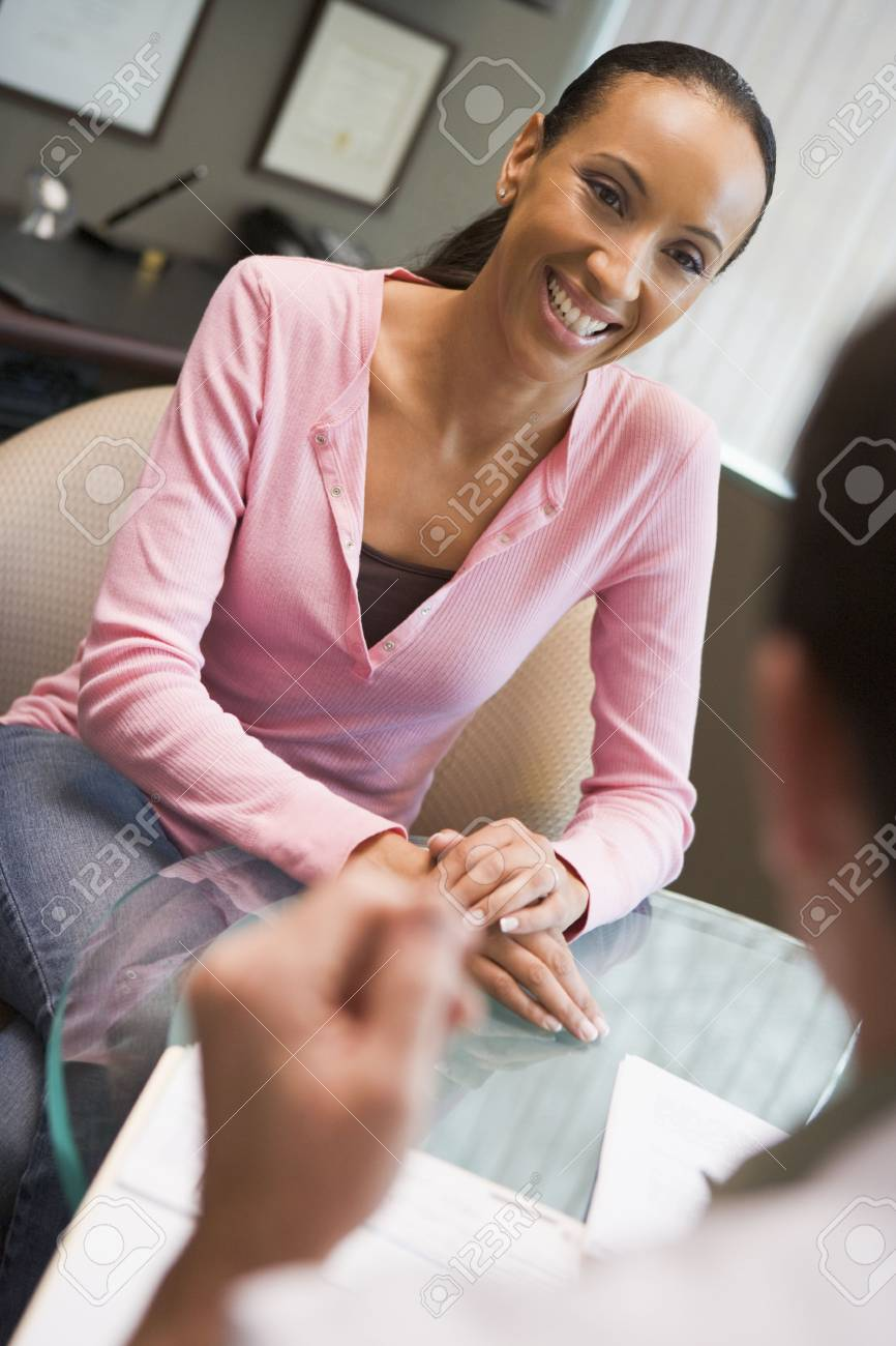 Woman having consultation with doctor in IVF clinic Stock Photo - 2955505