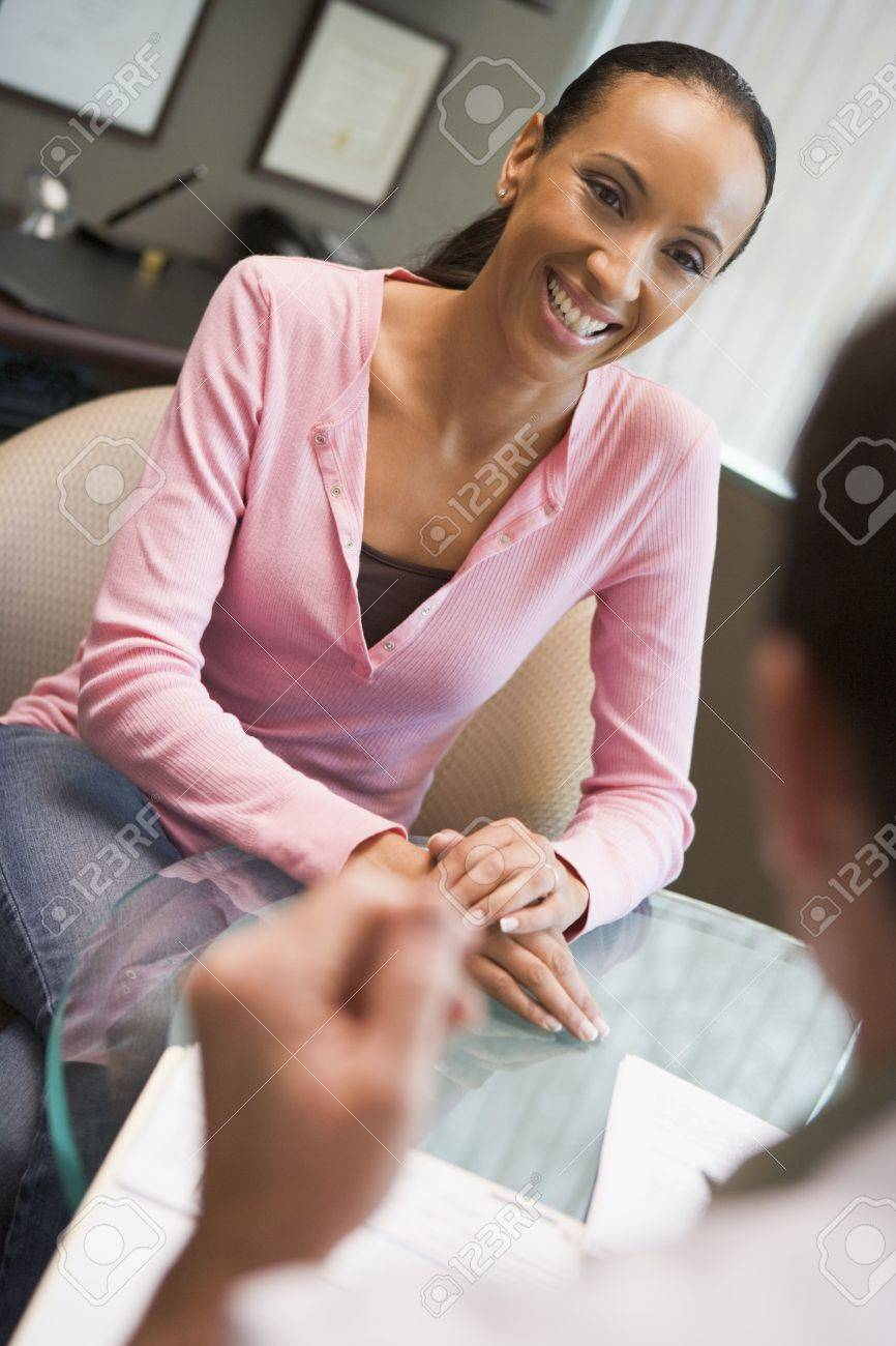 Woman in consultation at IVF clinic (selective focus) Stock Photo - 3203008