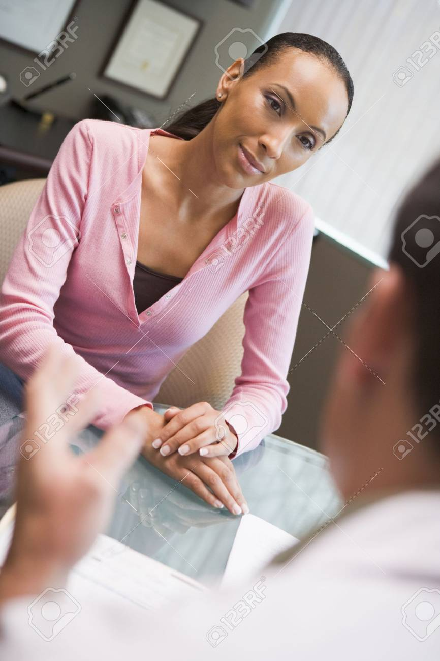 Woman in consultation at IVF clinic (selective focus) Stock Photo - 4498629