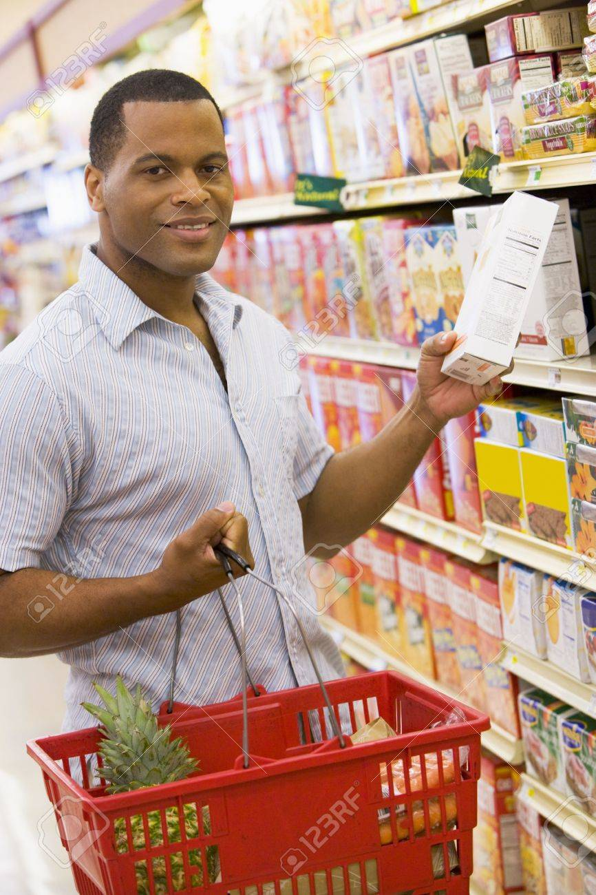 Man shopping at grocery store Stock Photo - 3226682