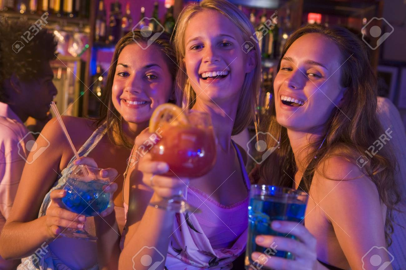 Young women in a bar Stock Photo - 3207589