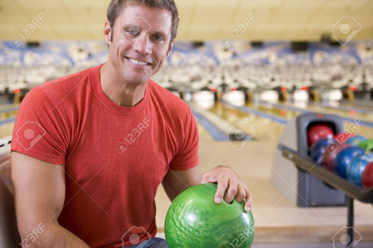 Man at a bowling lane Stock Photo - 3207343