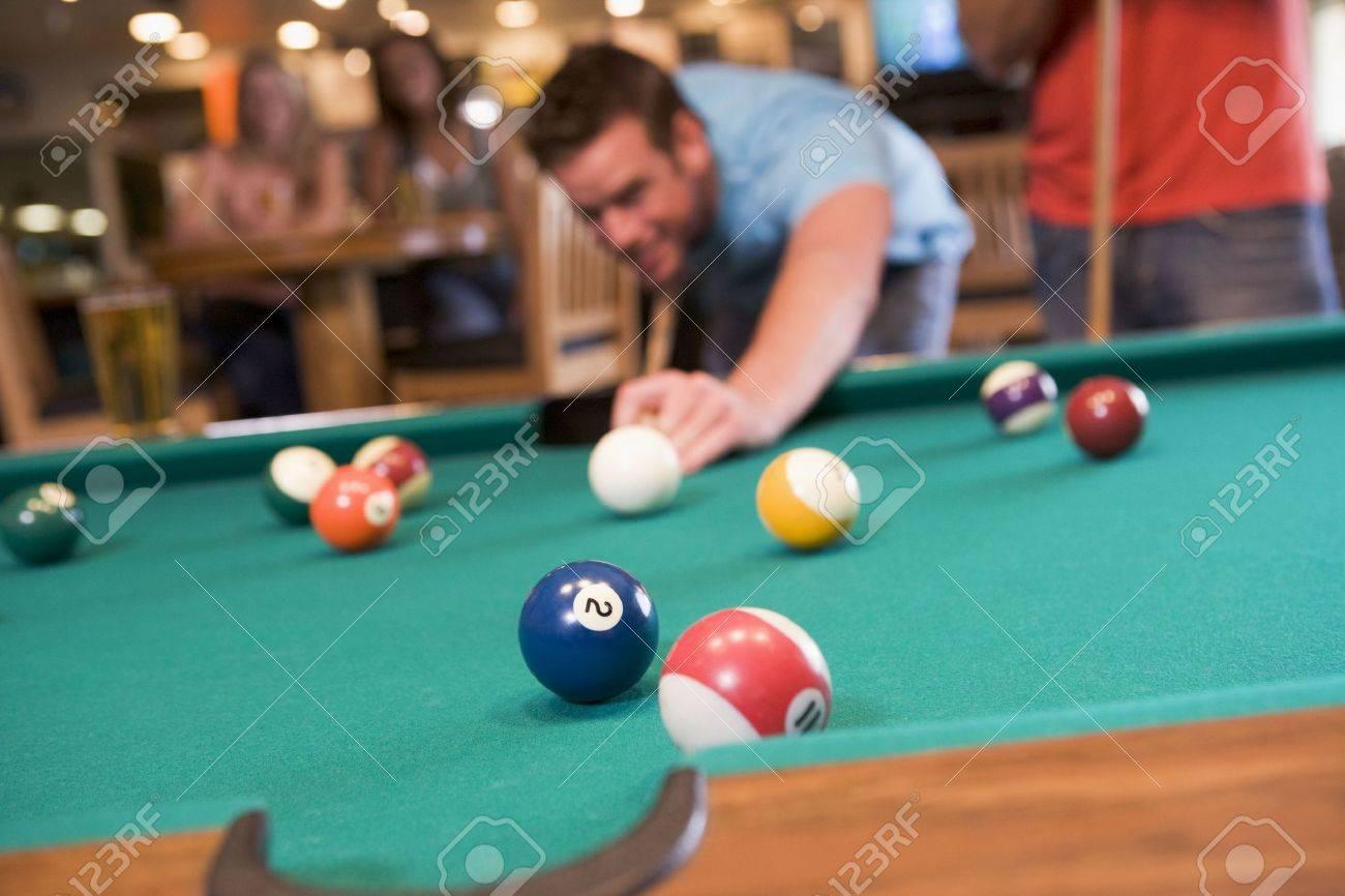 Man playing pool Stock Photo - 3207690