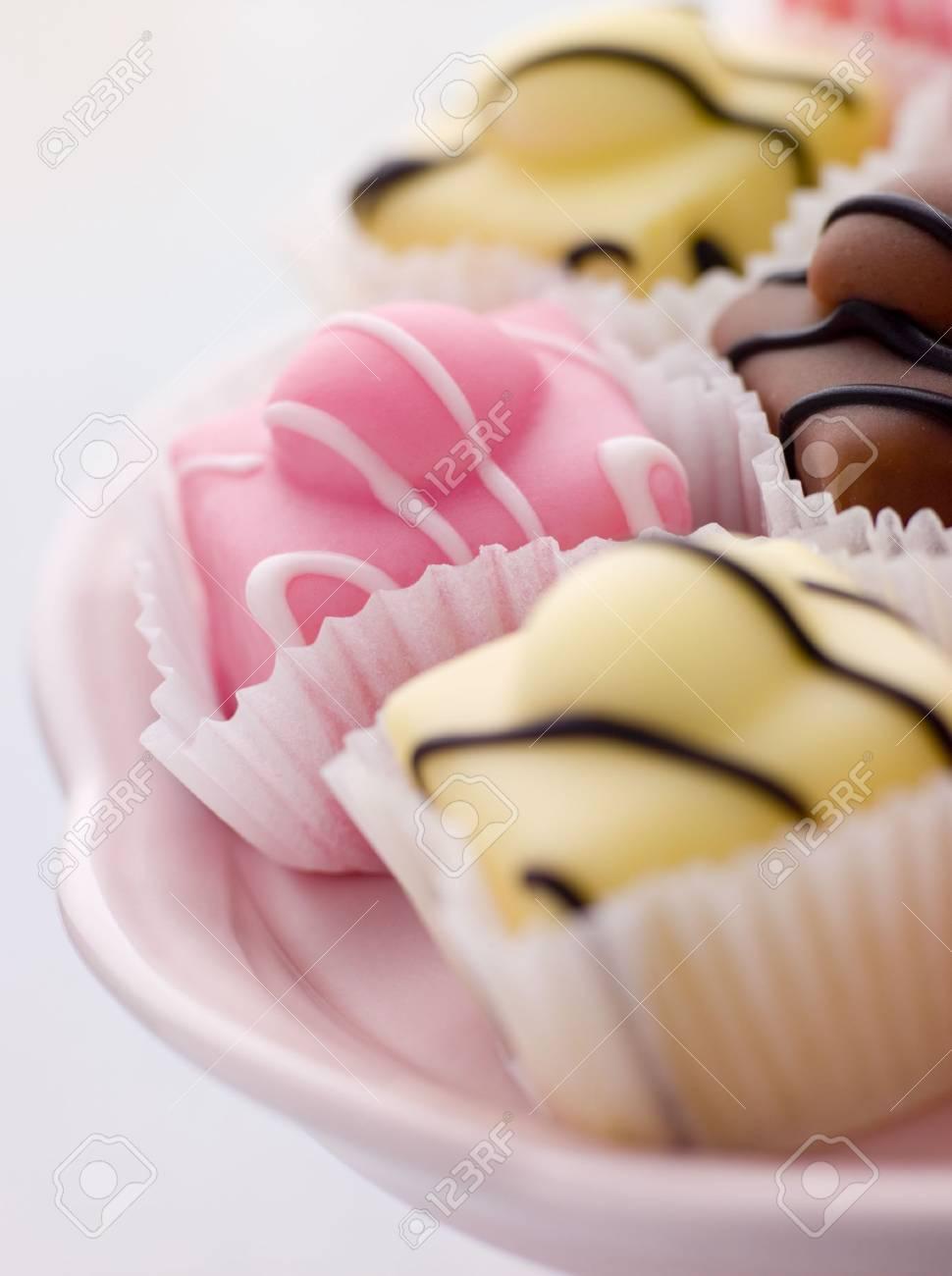 Fondant Fancy Cakes Stock Photo - 3443385