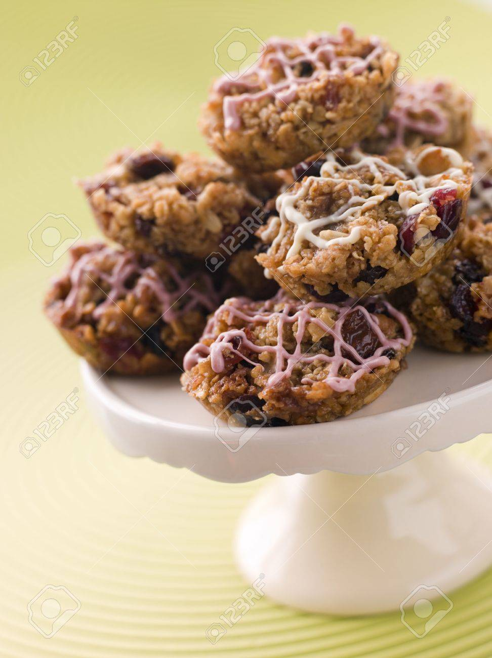 Fruit Nut and Chocolate Flapjack Cakes Stock Photo - 3443702