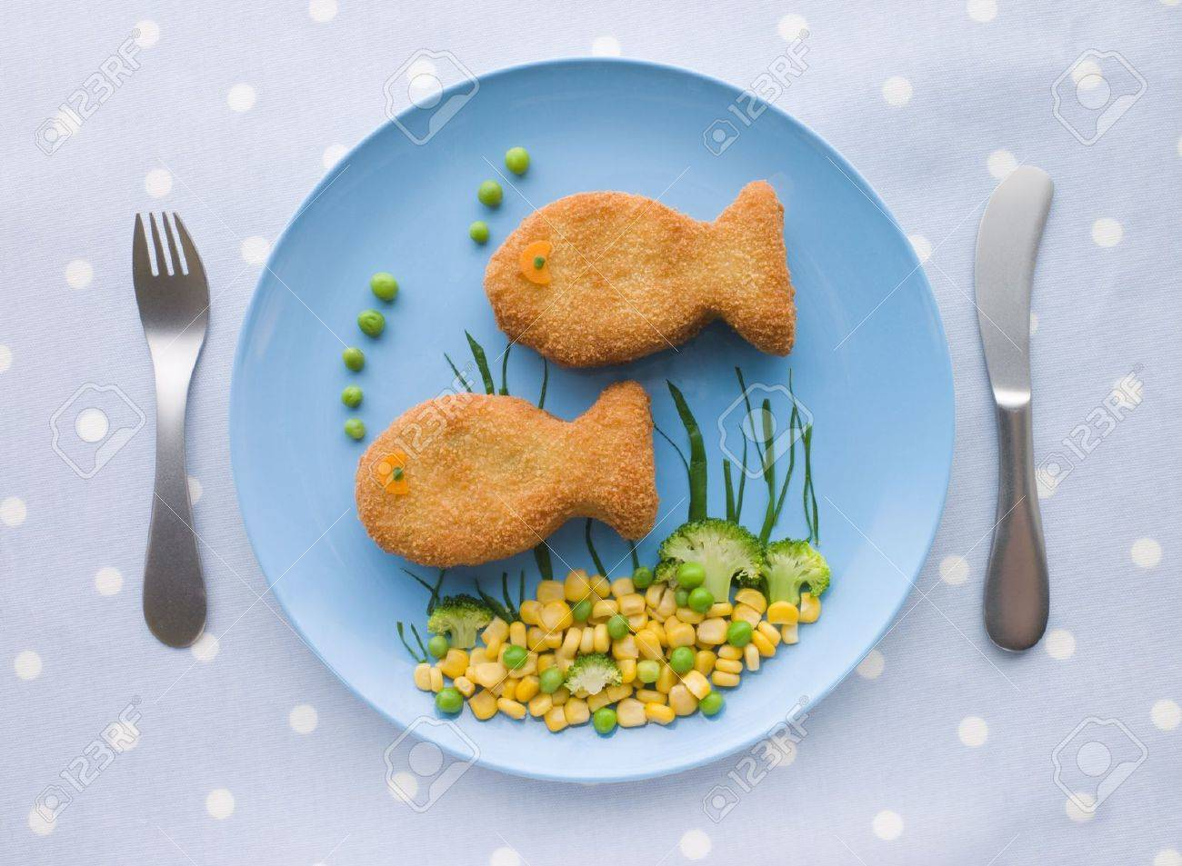 Fish Cakes with Vegetables Stock Photo - 3600445
