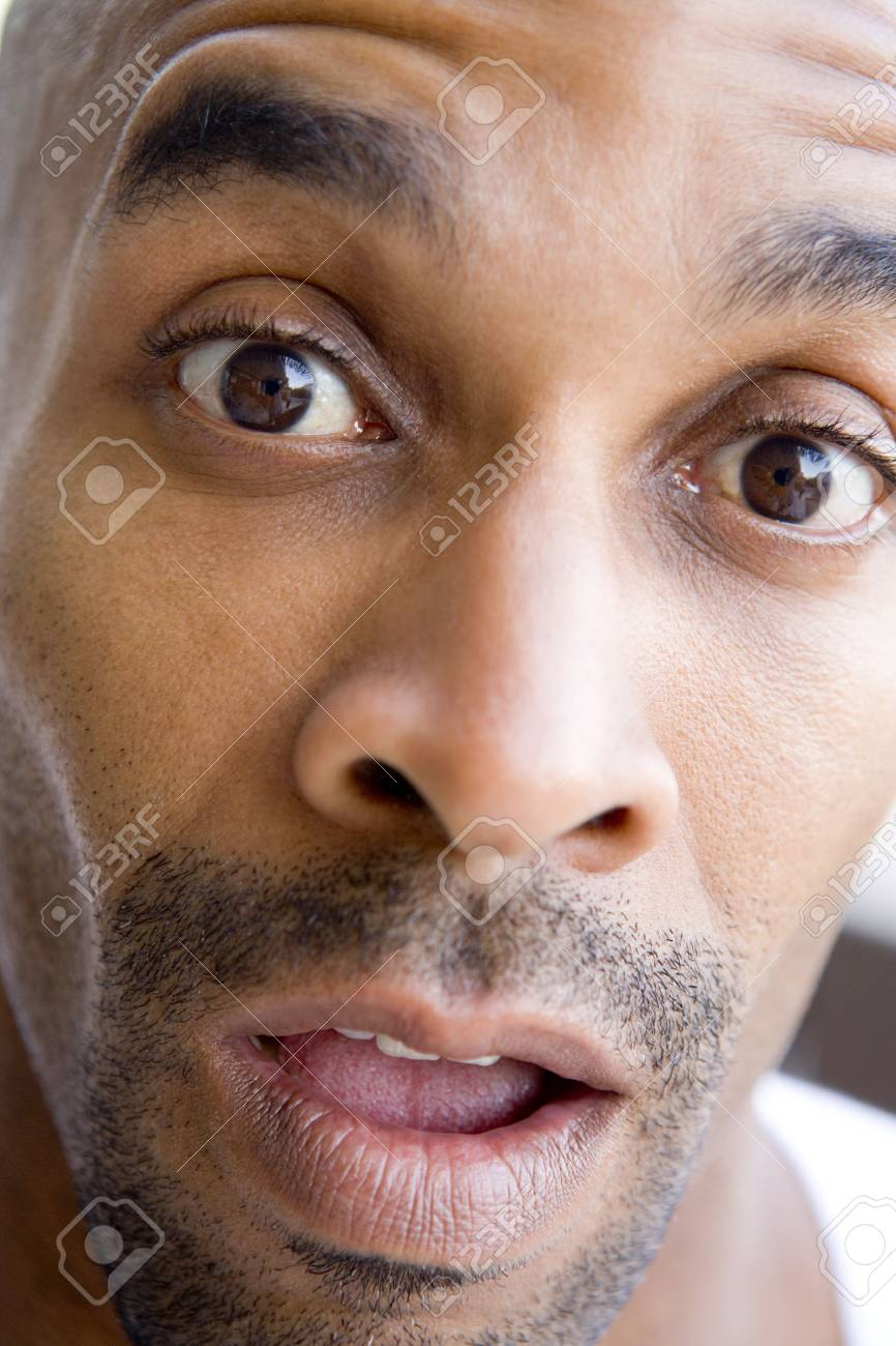 Head shot of surprised man Stock Photo - 3488163