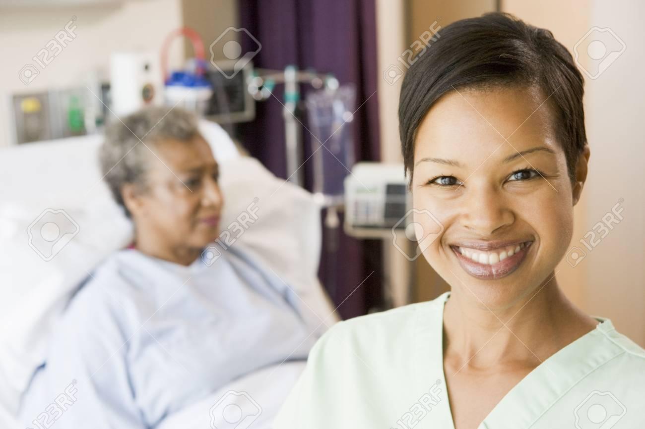 Nurse Standing In Patients Room Stock Photo - 3724047