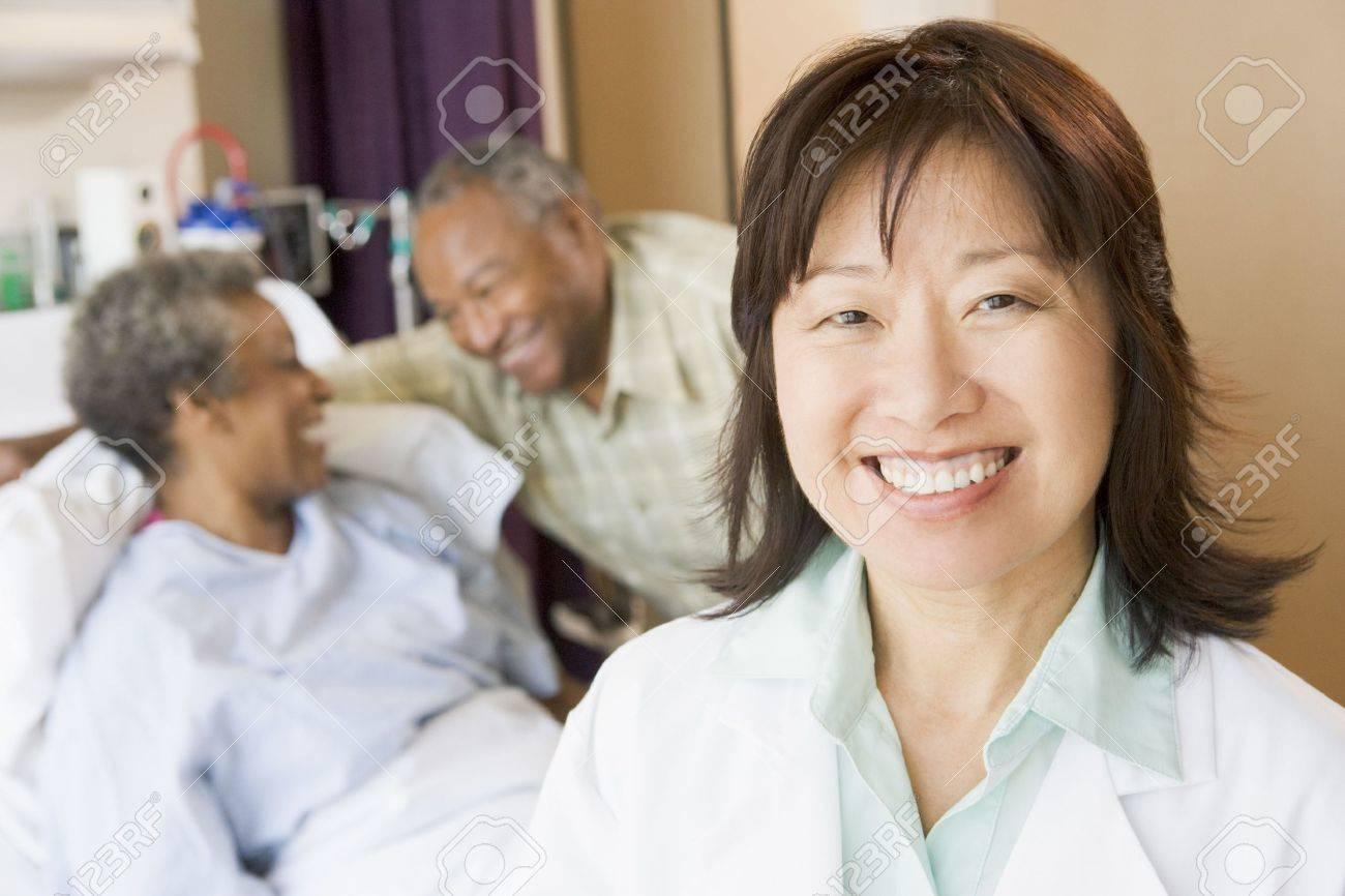 Nurse Smiling In Hospital Room Stock Photo - 3724230