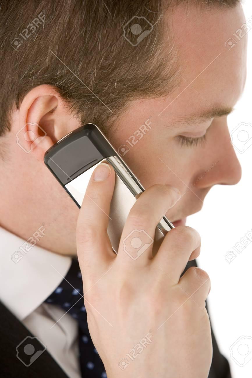 Businessman Talking On Mobile Phone Stock Photo - 4444870