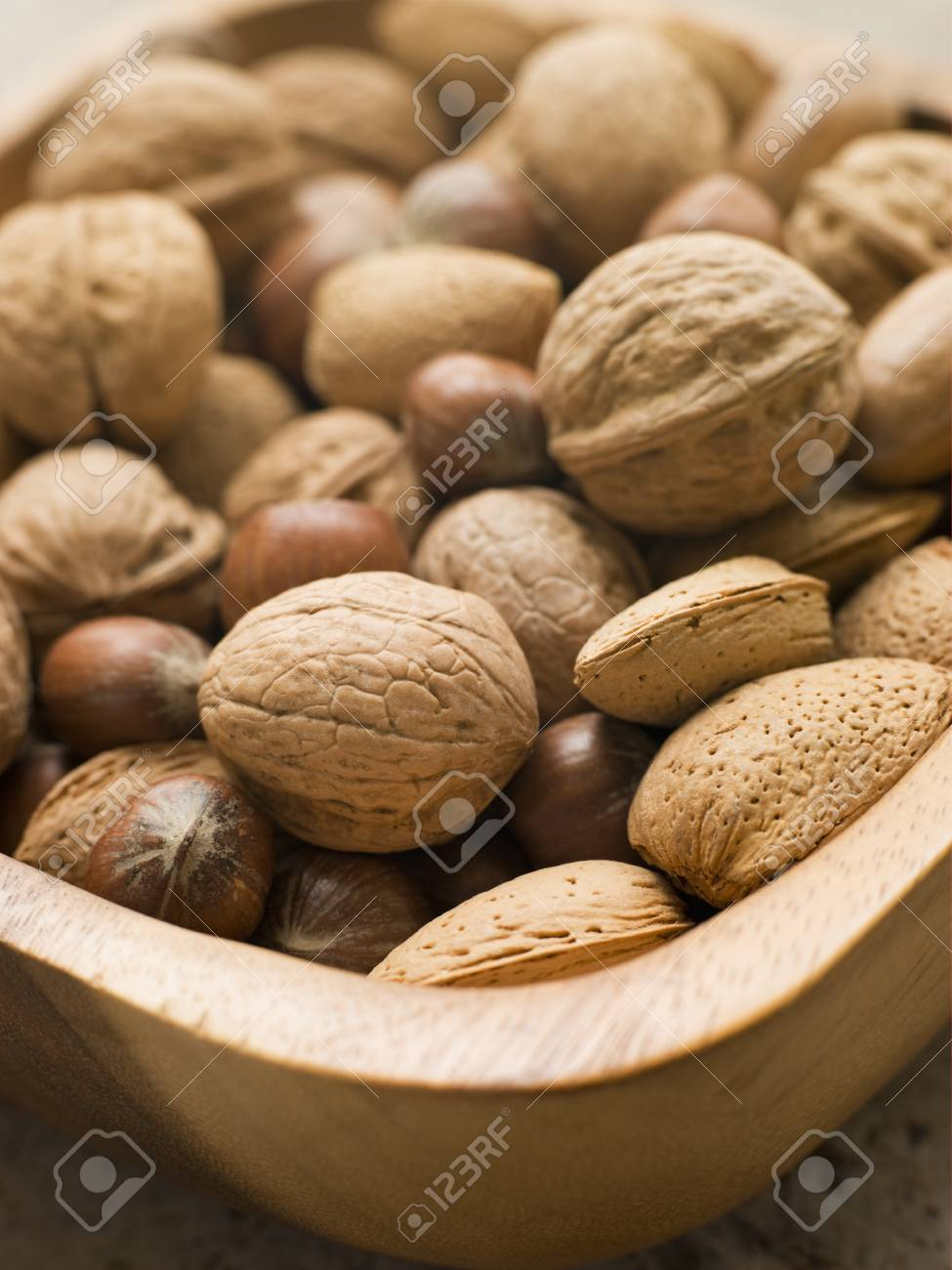 Bowl of mixed nuts Stock Photo - 4461680