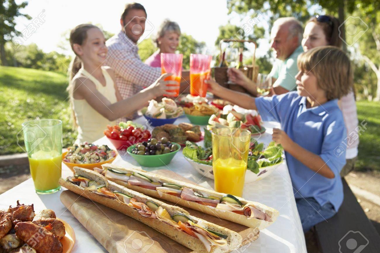 Family Dining Al Fresco Stock Photo - 4499473