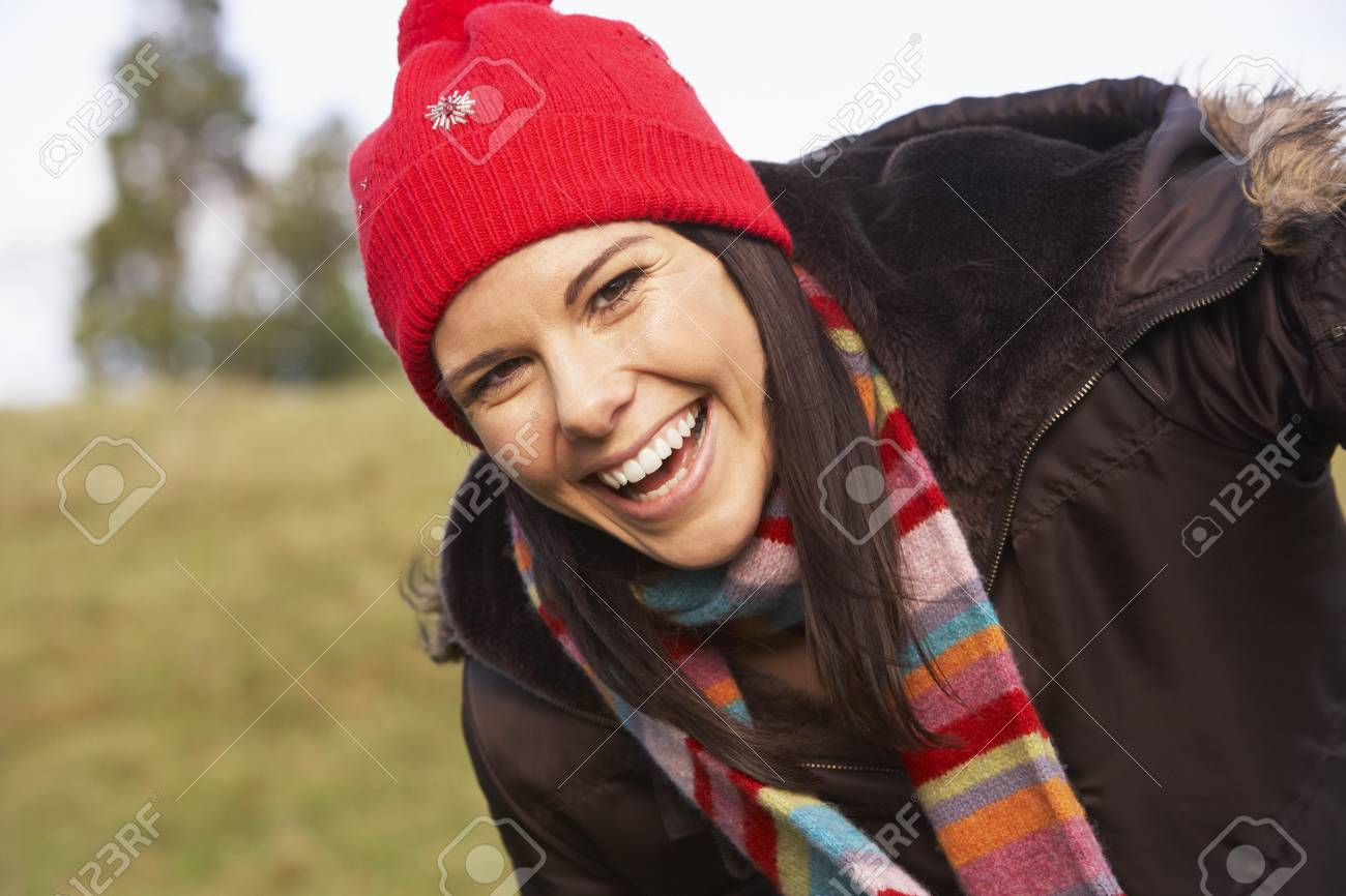 Portrait Of Young Woman Smiling Stock Photo - 4506571