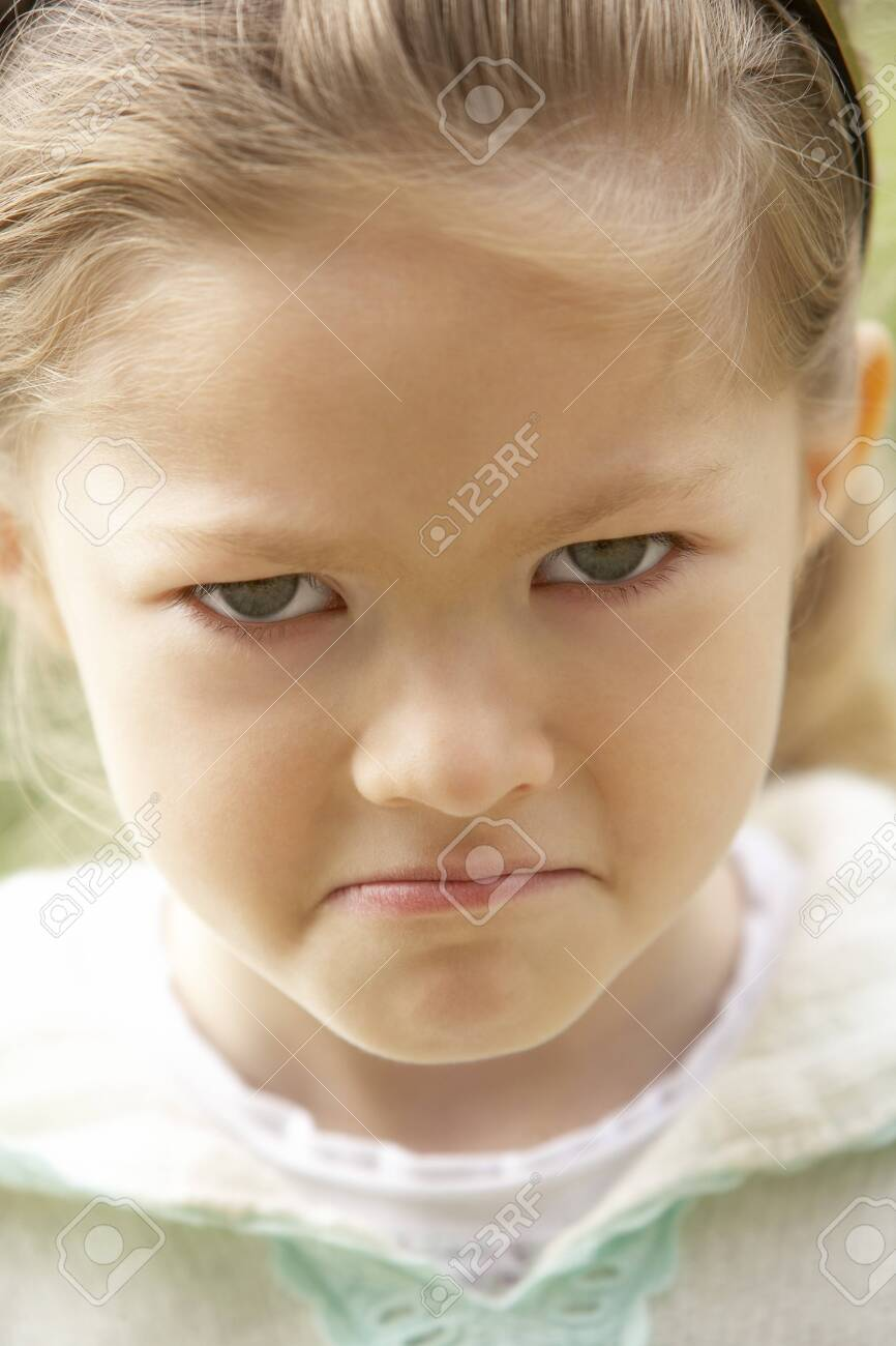 Portrait Of Girl Pouting Stock Photo - 4547351