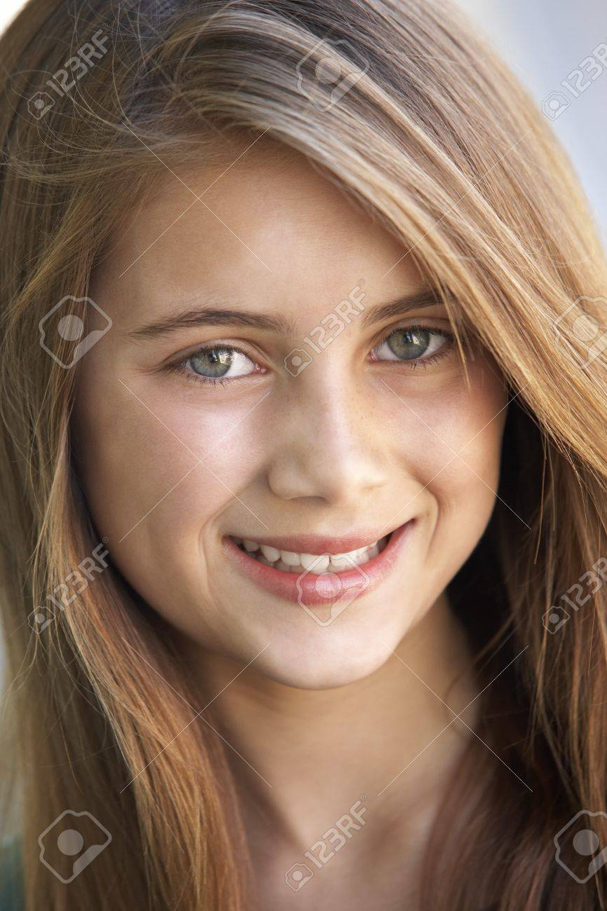 Portrait Of Girl Smiling Stock Photo - 4547564