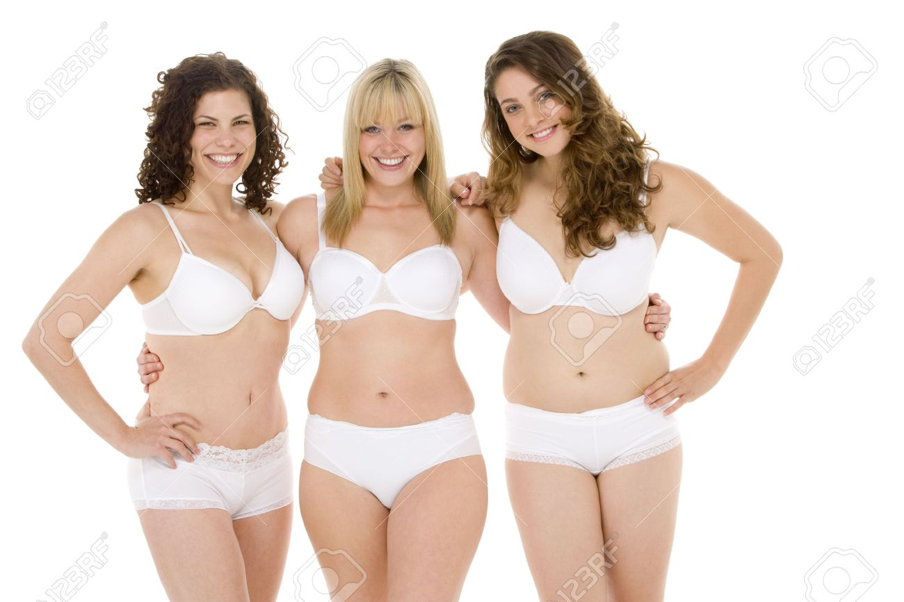Portrait Of Women In Their Underwear Stock Photo, Picture And ...