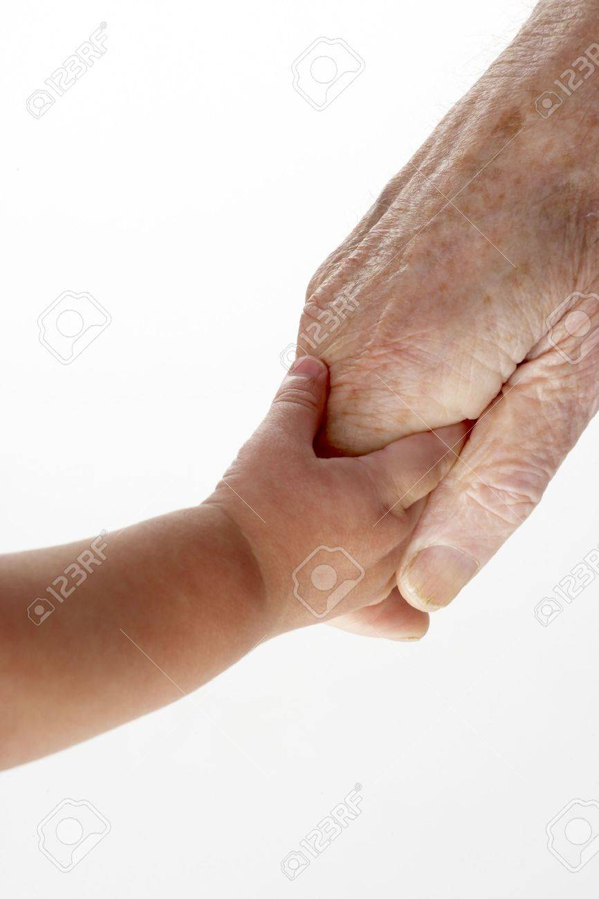Grandfather and granddaughter holding hands Stock Photo - 4607253