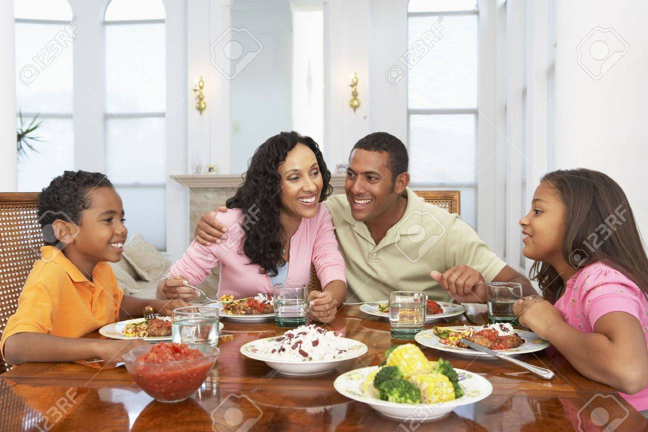 Family Having A Meal Together At Home - 4645952