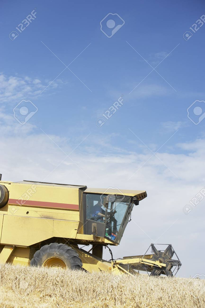 Combine Harvester Working In Field Stock Photo - 5040703