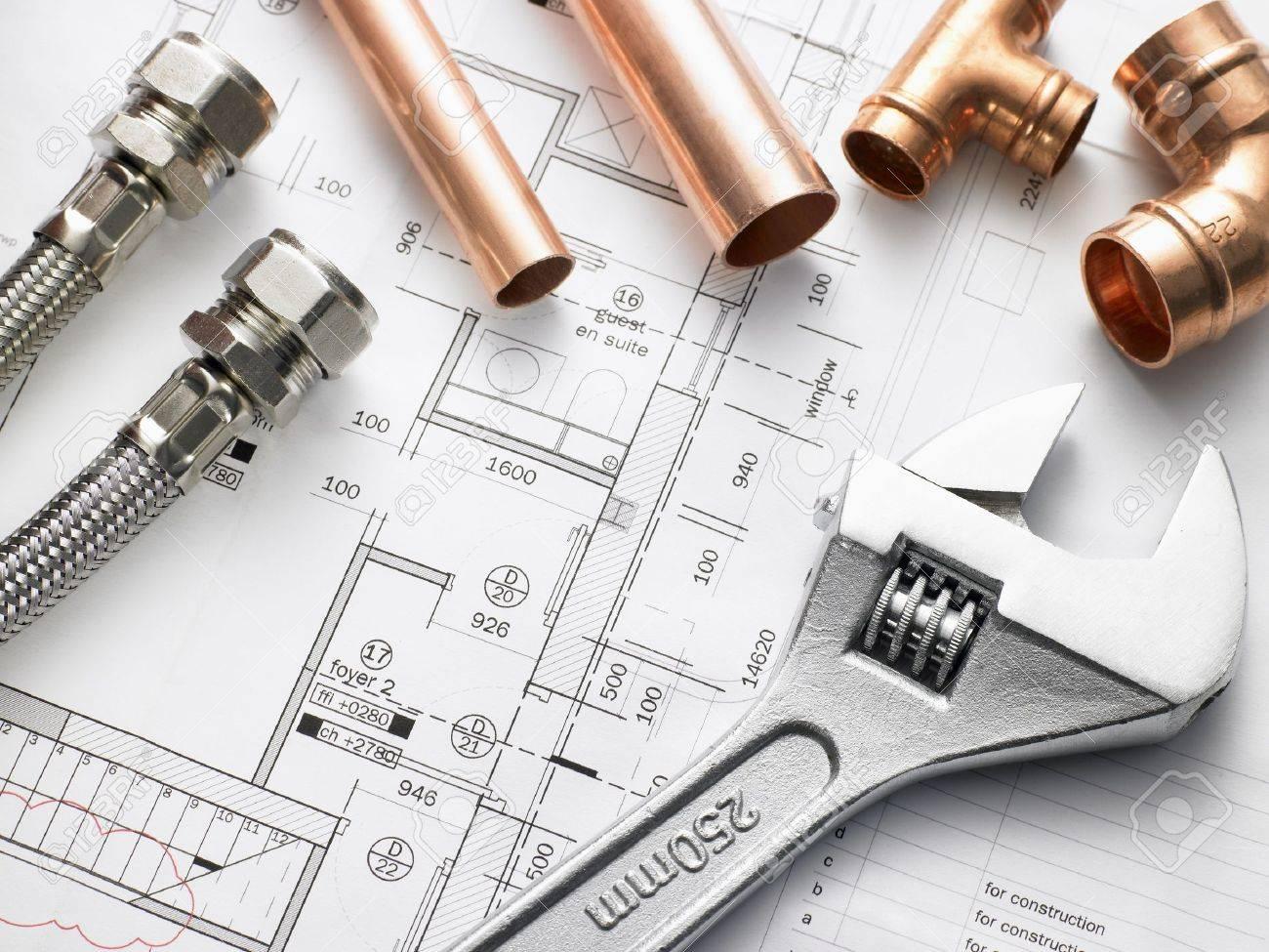 Plumbing Equipment On House Plans - 5297266