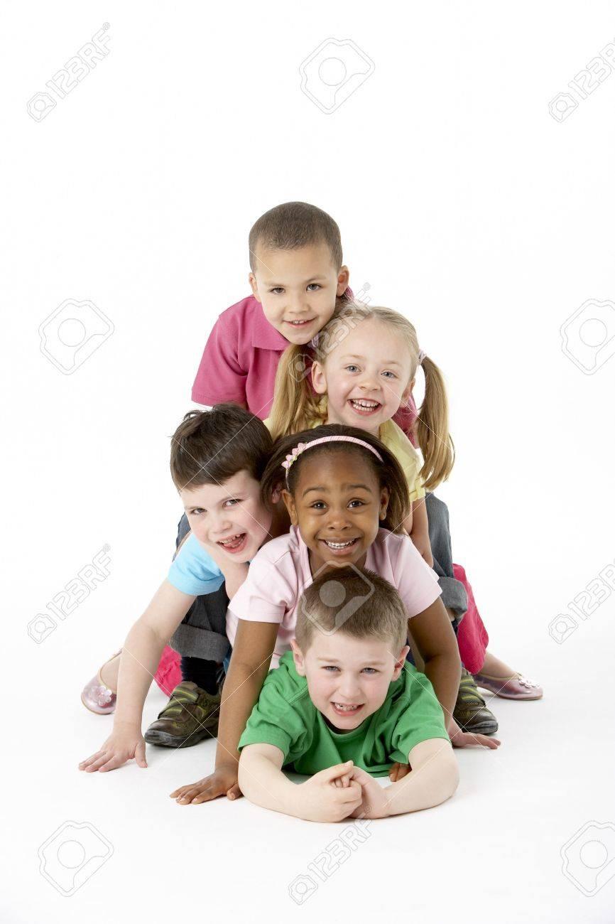 Group Of Young Children In Studio - 5296998