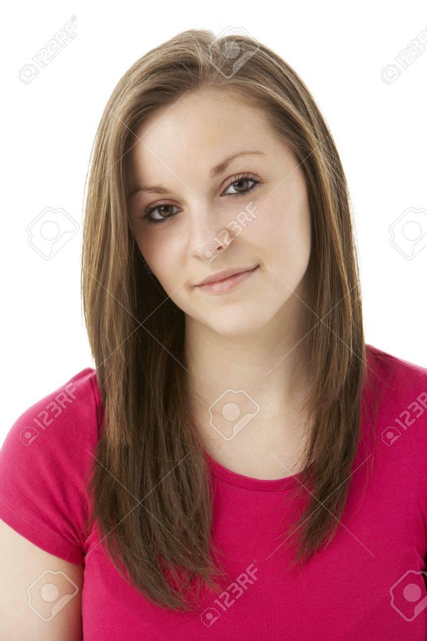 Studio Portrait Of Smiling Teenage Girl Stock Photo - 5515647