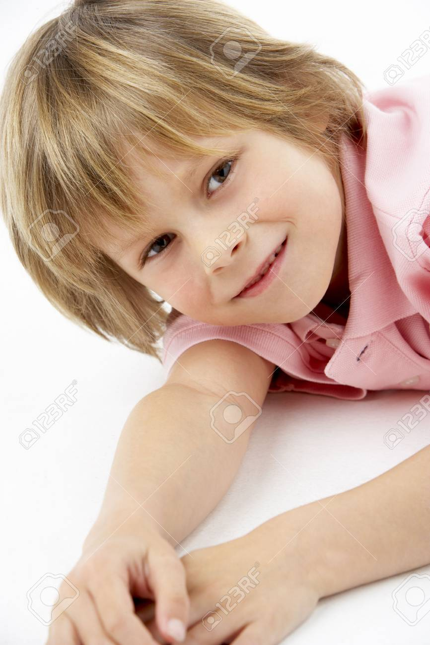 Boy Laying on Stomach Stock Photo - 5632848