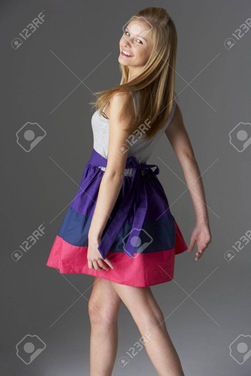 Studio Portrait Of Fashionably Dressed Teenage Girl Stock Photo - 6127587