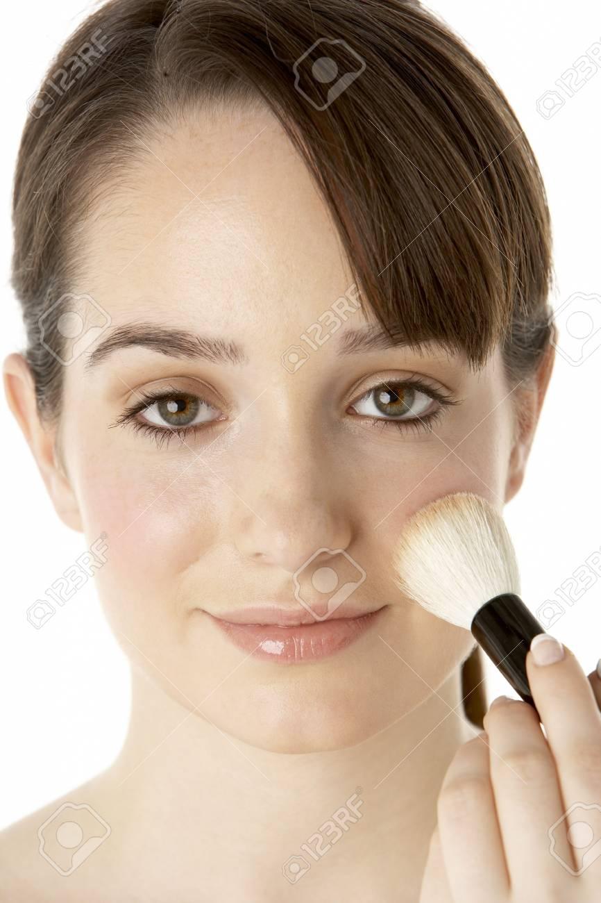 Teenage Girl Applying Make Up Stock Photo - 6127976