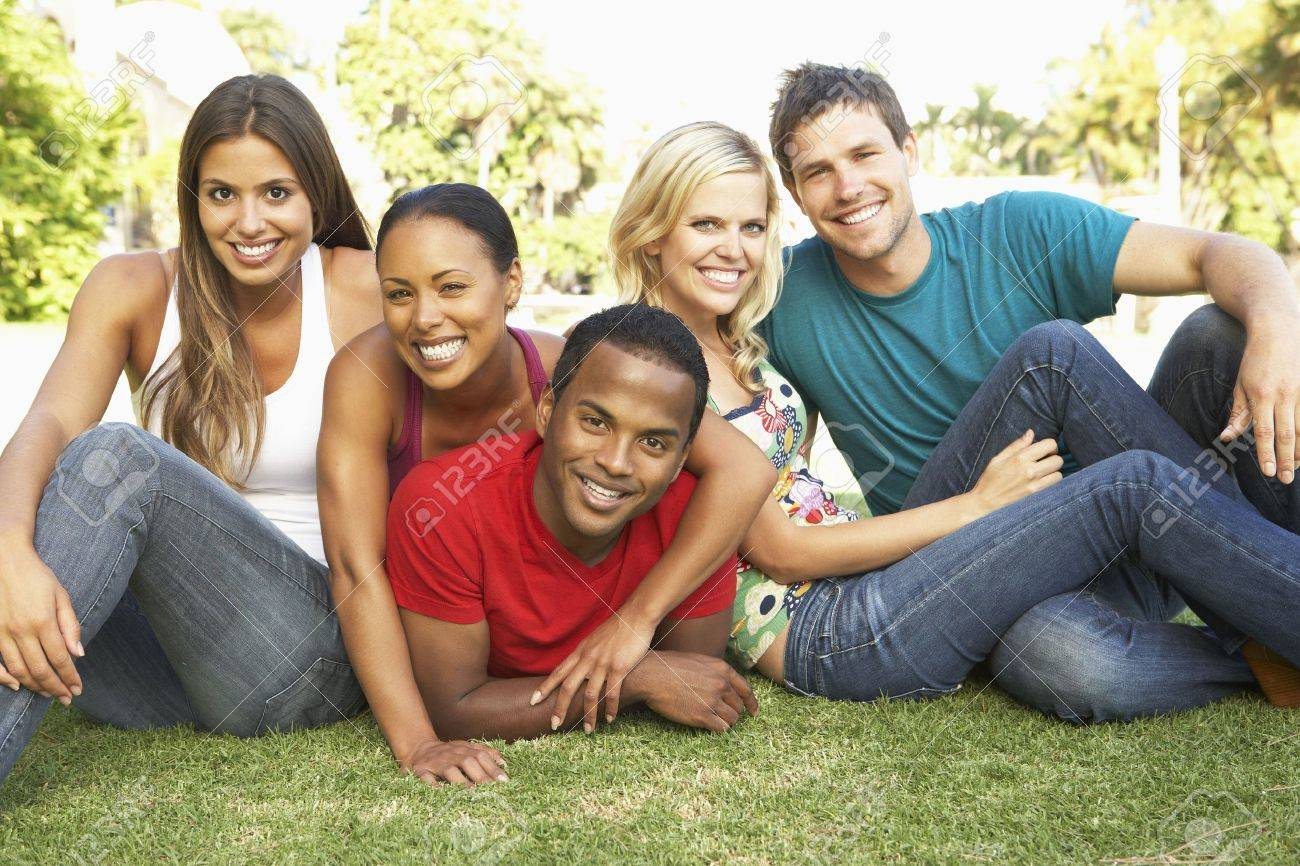 Group Of Young Friends Having Fun Together Stock Photo - 6142952