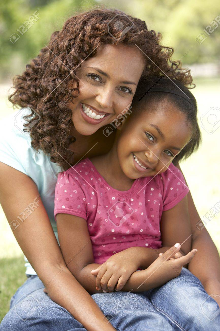Portrait Of Mother And Daughter In Park Stock Photo - 6456576