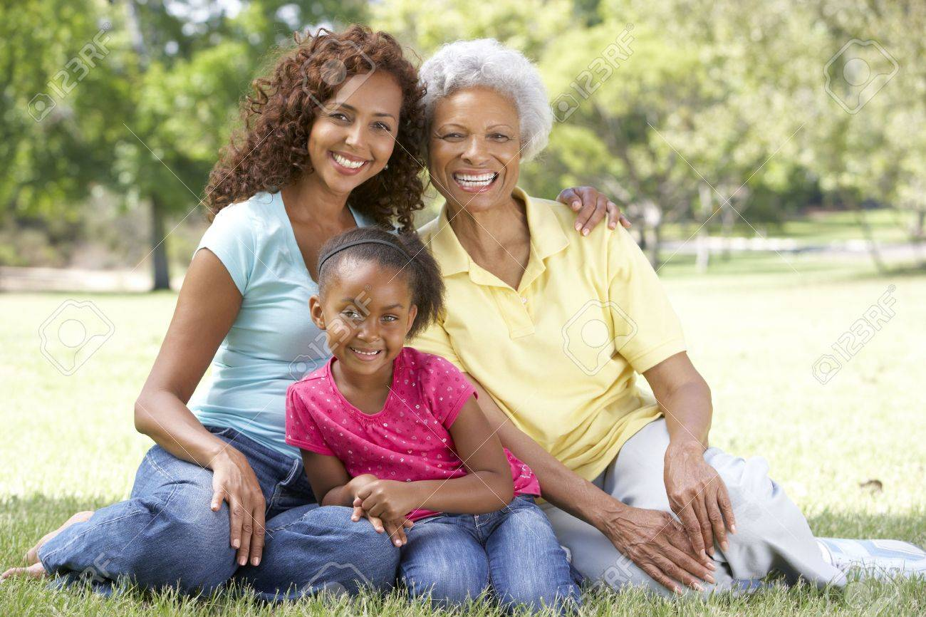 Grandmother With Daughter And Granddaughter In Park Stock Photo - 6456601