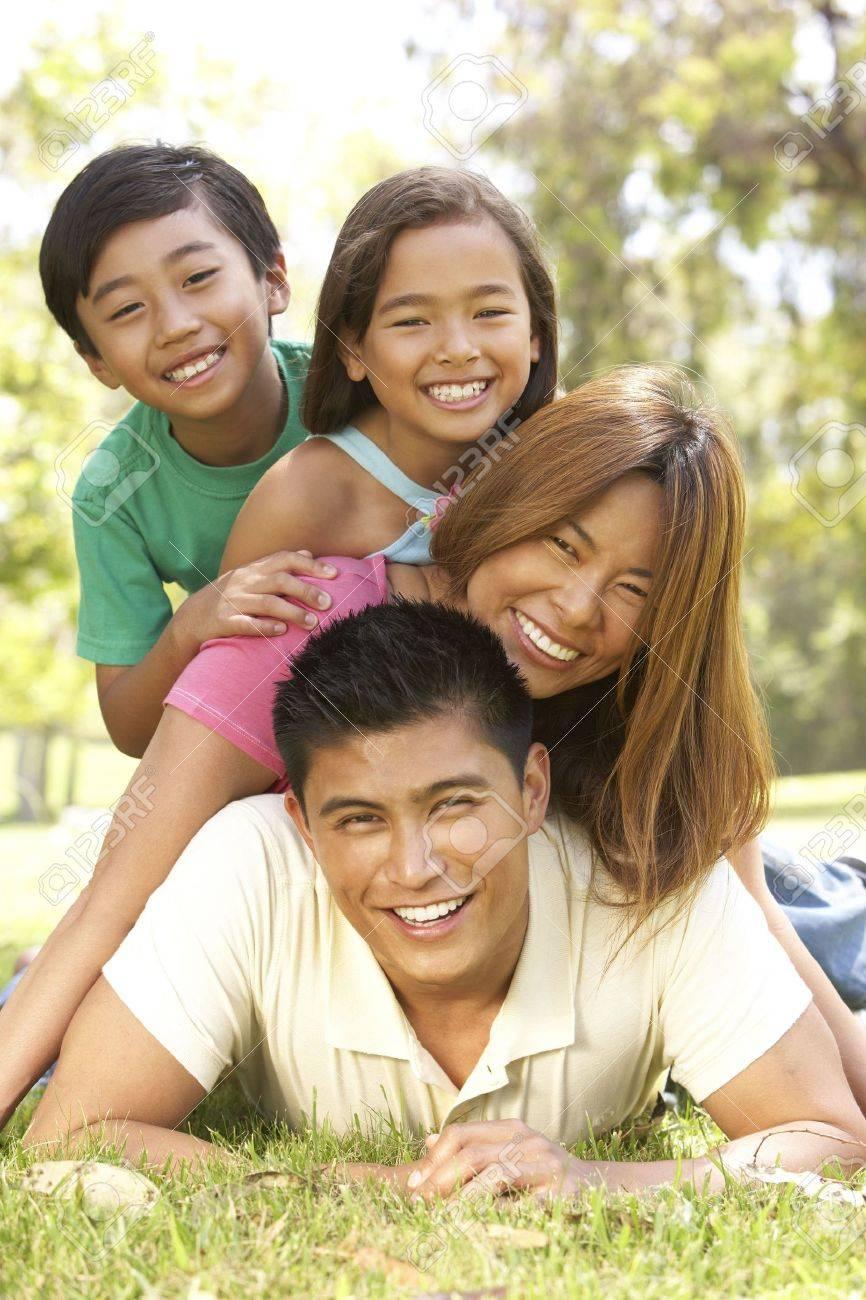 Family Enjoying Day In Park Stock Photo - 6456487