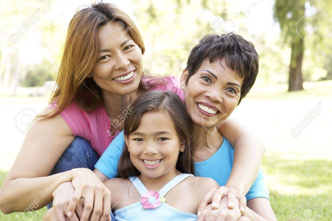 Grandmother With Daughter And Granddaughter In Park Stock Photo - 6456540
