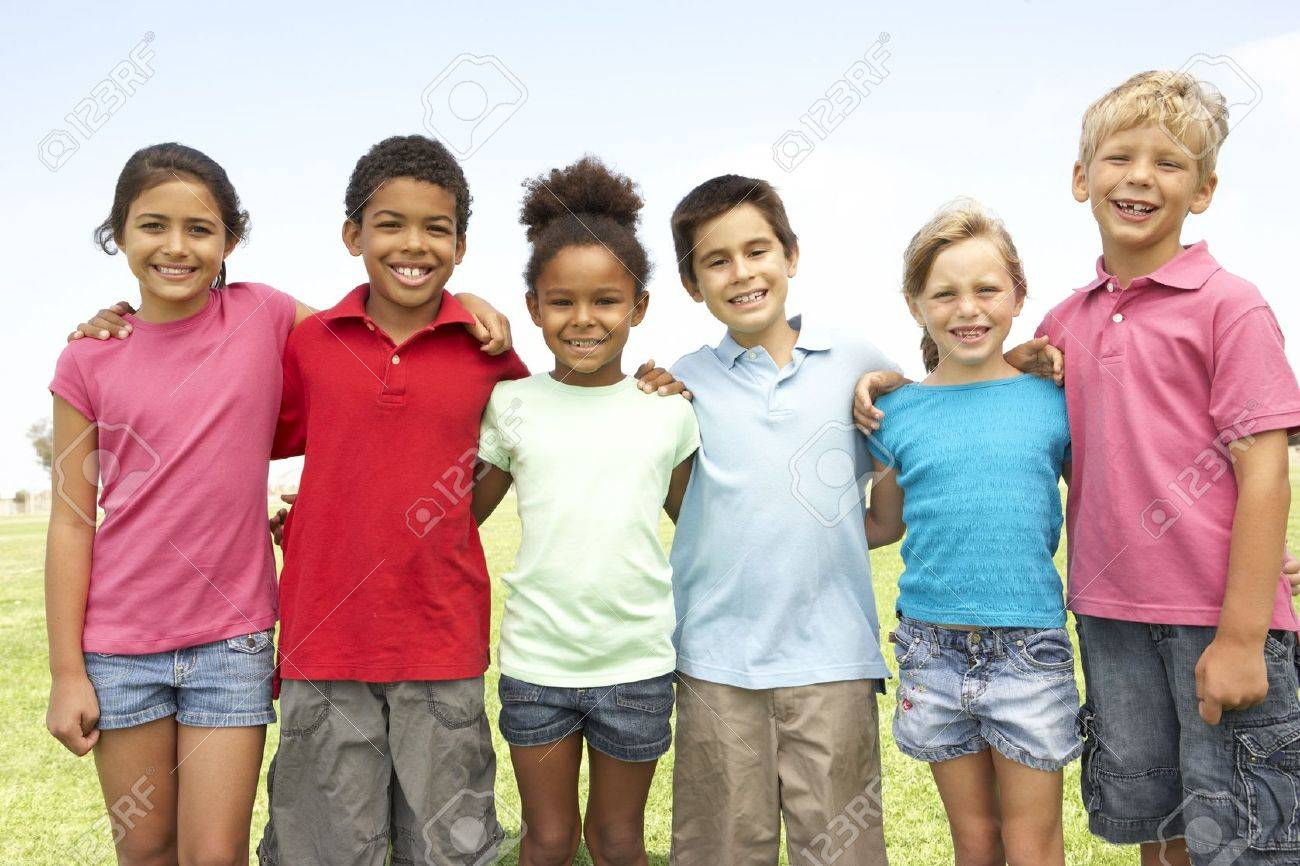 Group Of Children Playing In Park Stock Photo - 6452343