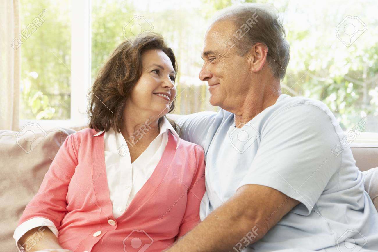 Senior Couple Relaxing At Home Stock Photo - 6453538