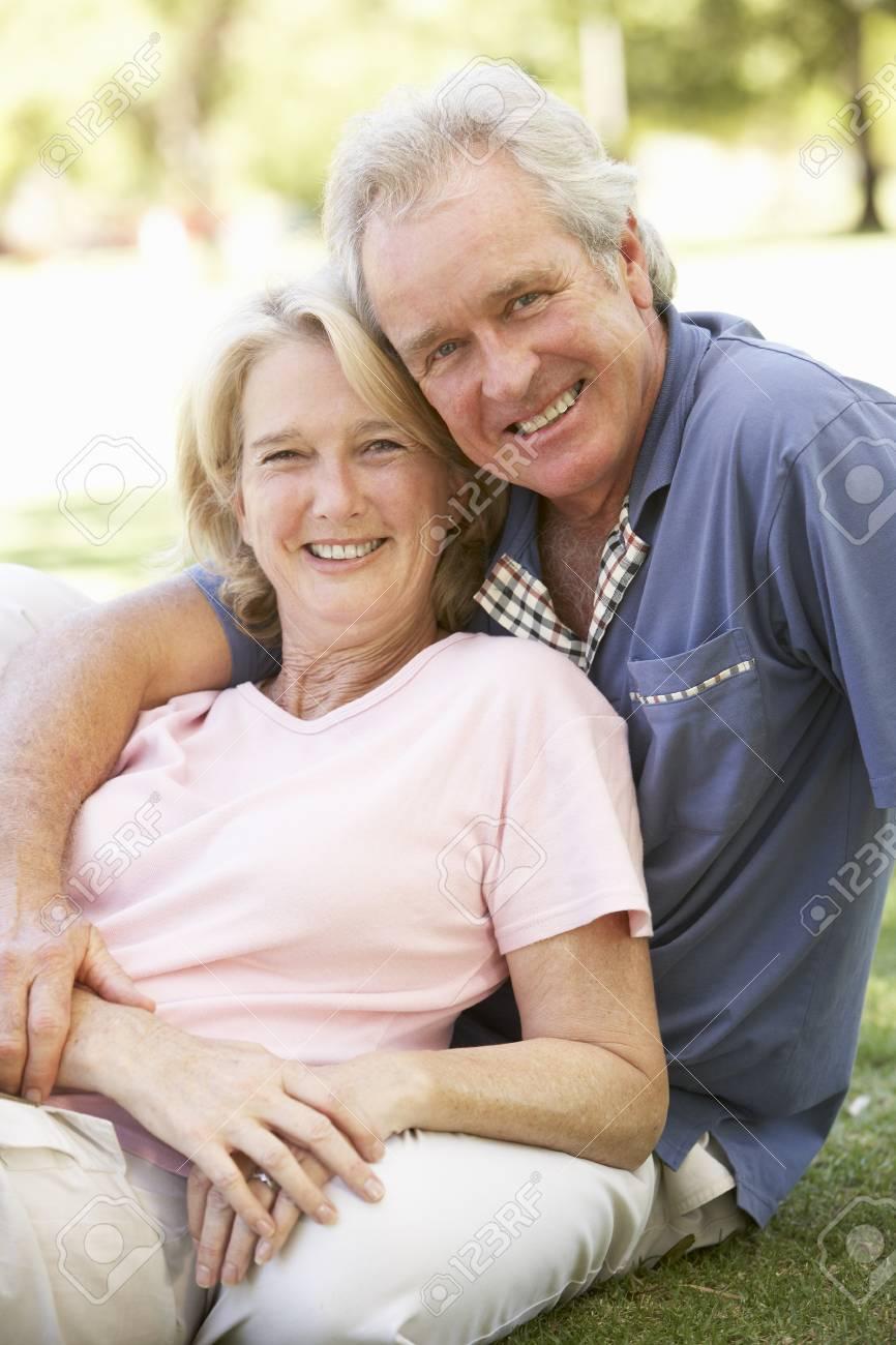 Portrait Of Romantic Senior Couple In Park Stock Photo - 8108663