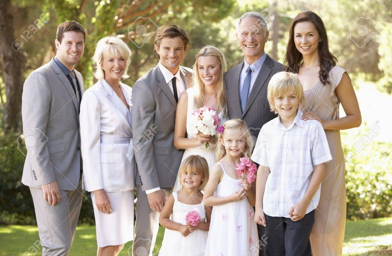 Family Group At Wedding Stock Photo - 8505172