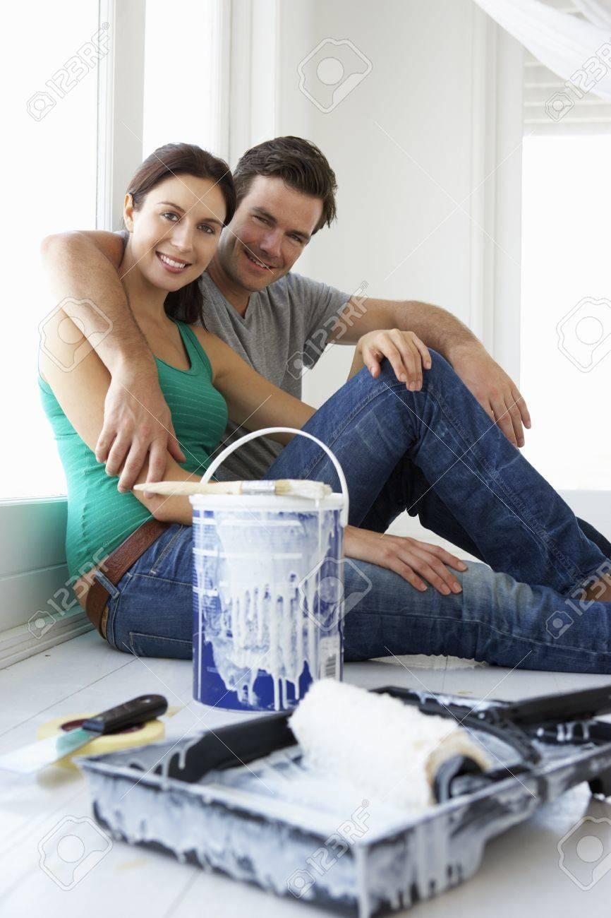 Couple decorating house Stock Photo - 11190289