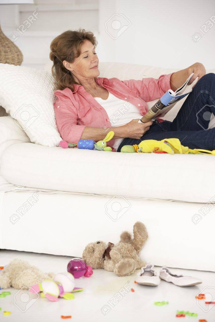 Grandmother enjoying a rest Stock Photo - 11210906