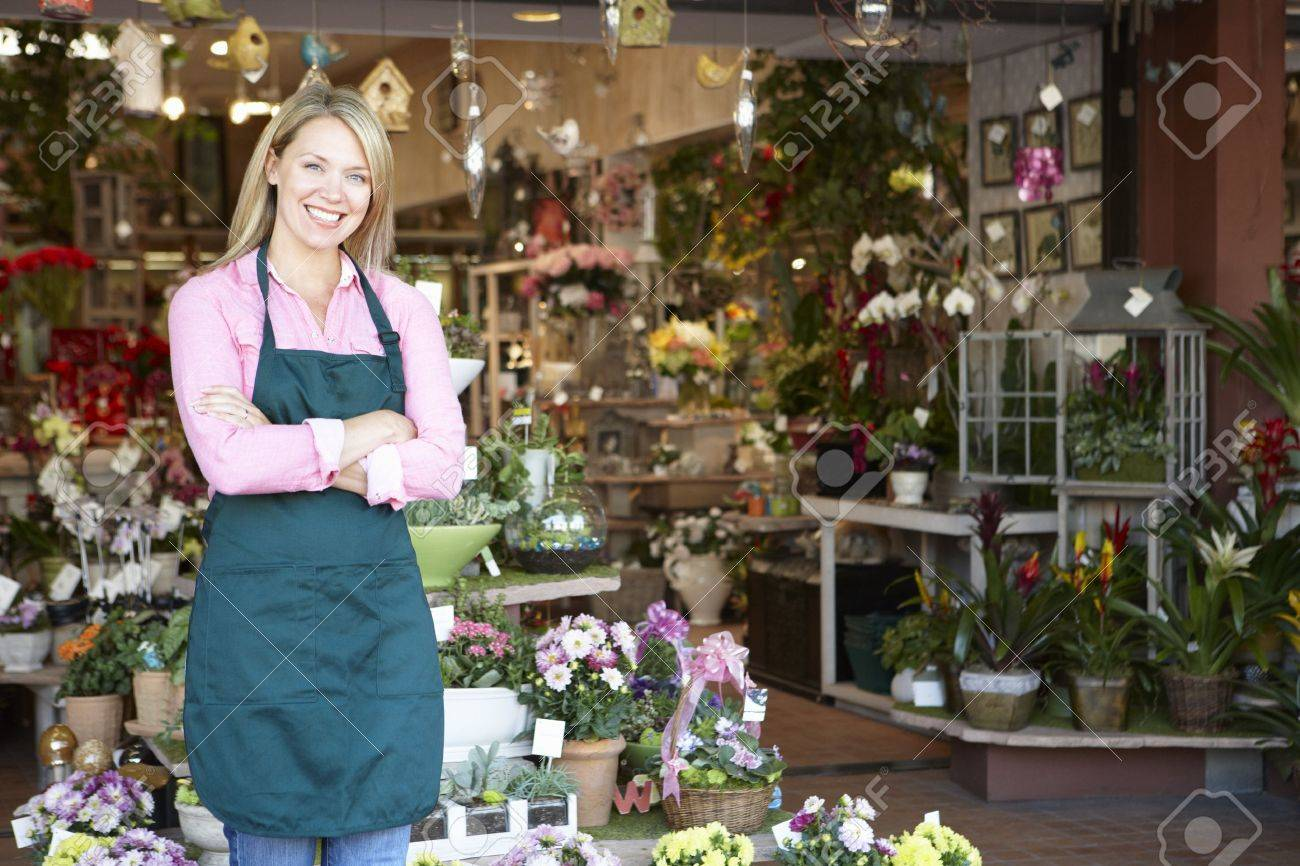 Woman working in florist Stock Photo - 11217509