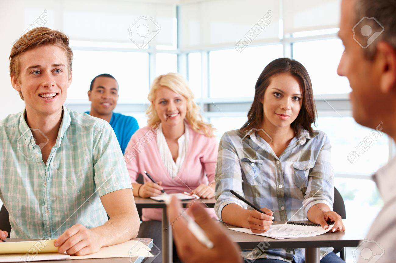 Tutor with class of students Stock Photo - 11217570