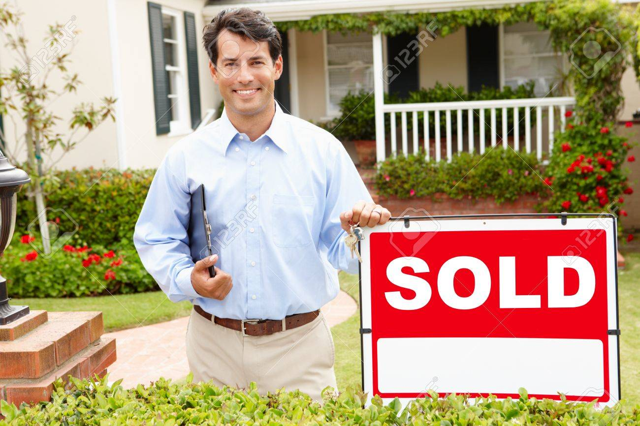 Real estate agent at work Stock Photo - 11217635