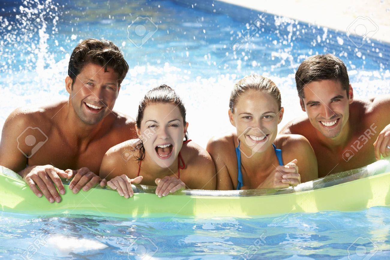 swimming pool with friends. Exellent Swimming Group Of Friends Having Fun In Swimming Pool Stock Photo  18722501 Intended With W